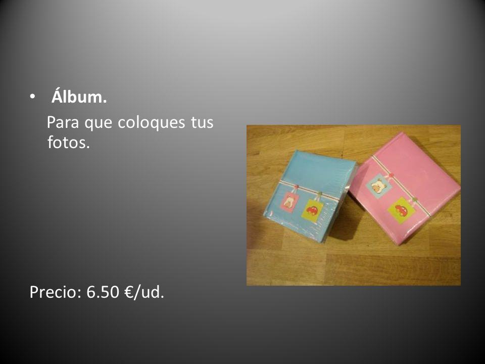 Álbum. Para que coloques tus fotos. Precio: 6.50 €/ud.