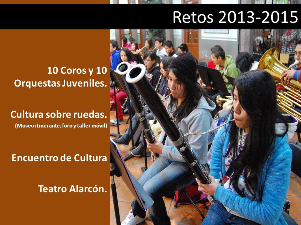 Retos 2013-2015 10 Coros y 10 Orquestas Juveniles.