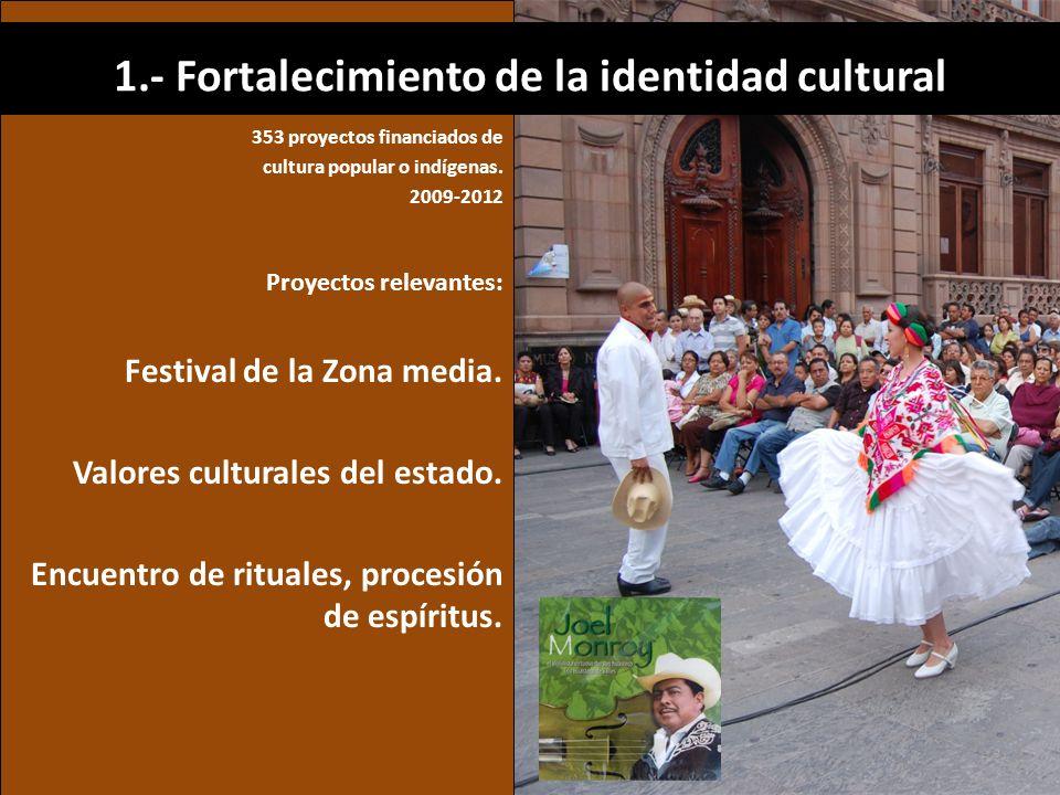 1.- Fortalecimiento de la identidad cultural