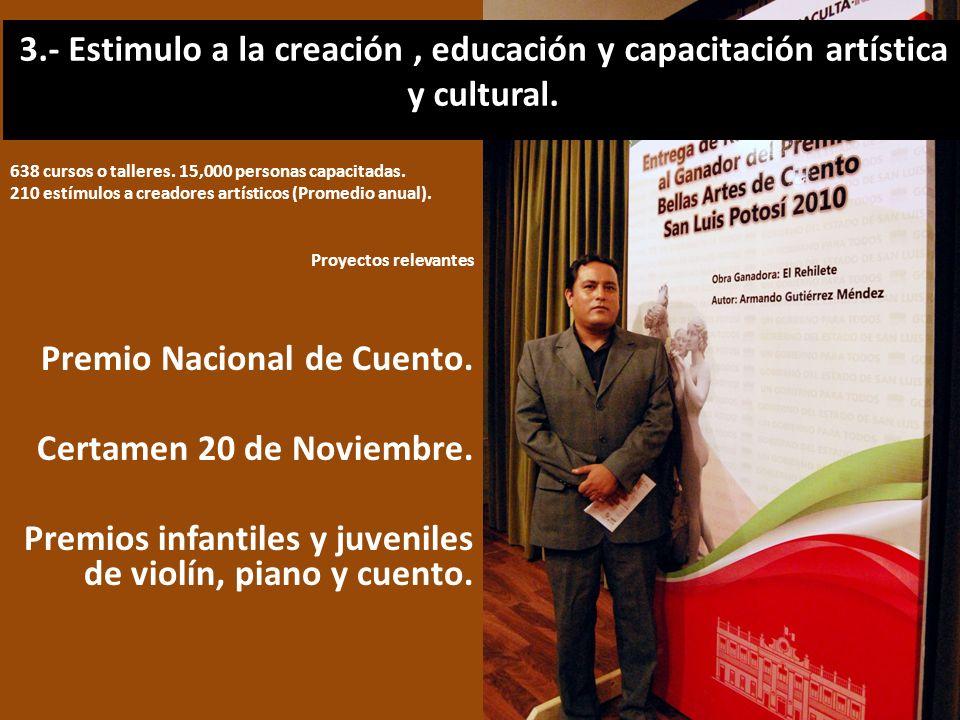 Premio Nacional de Cuento. Certamen 20 de Noviembre.