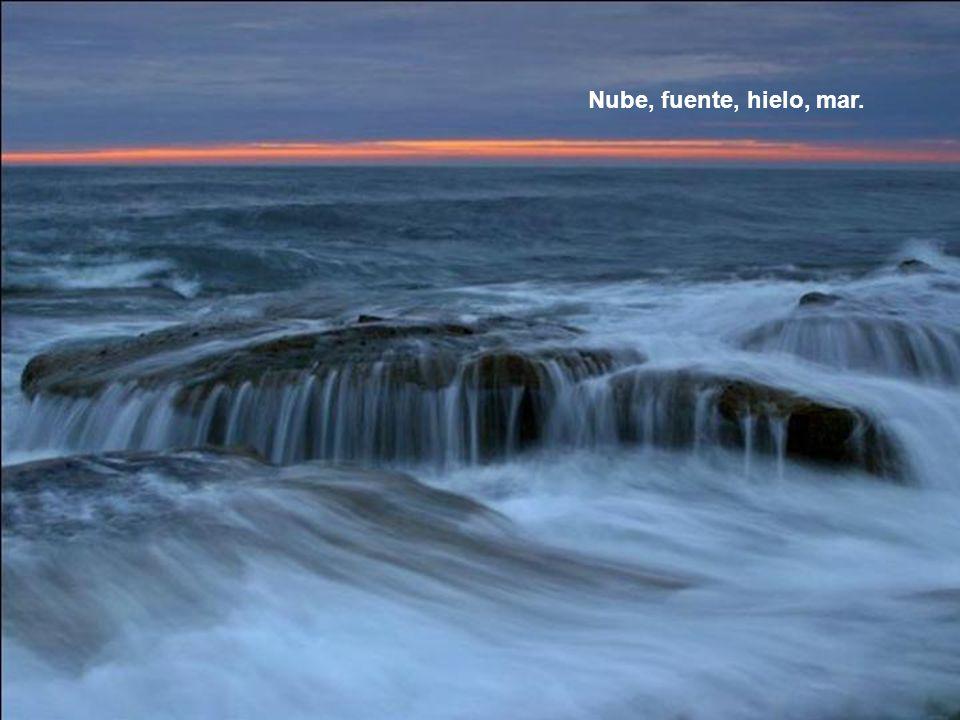 Nube, fuente, hielo, mar.