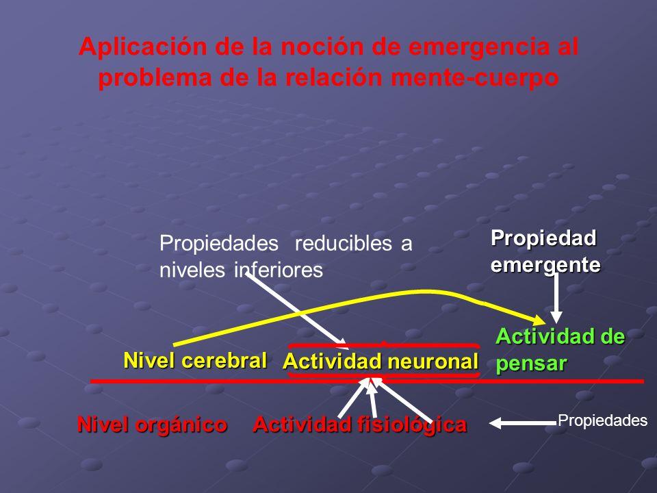Aplicación de la noción de emergencia al problema de la relación mente-cuerpo