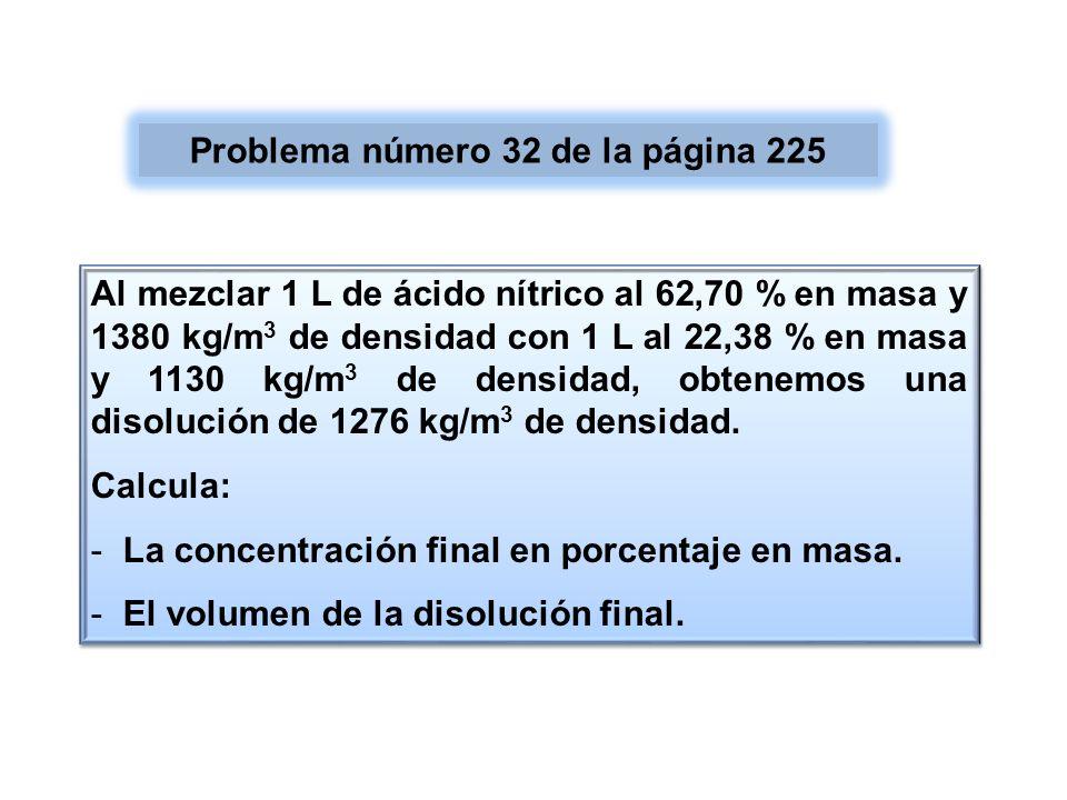 Problema número 32 de la página 225