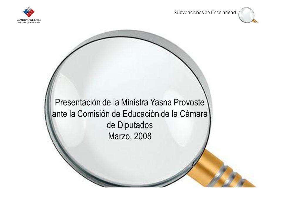 Presentación de la Ministra Yasna Provoste