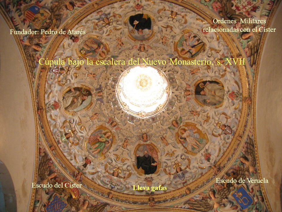 Cúpula bajo la escalera del Nuevo Monasterio, s. XVII