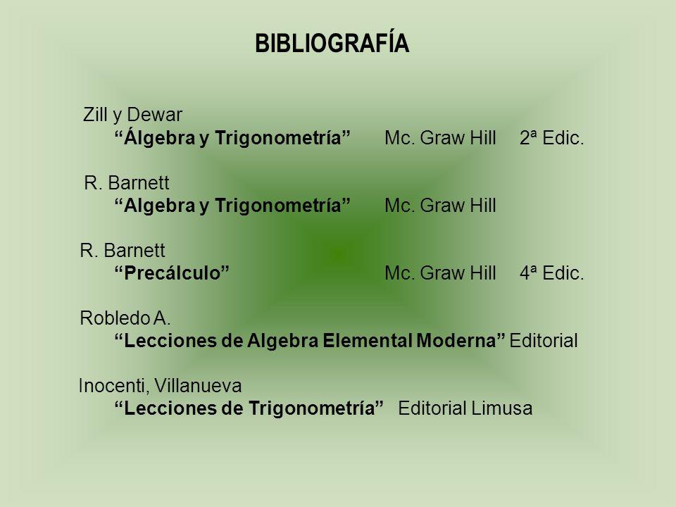 BIBLIOGRAFÍA Zill y Dewar