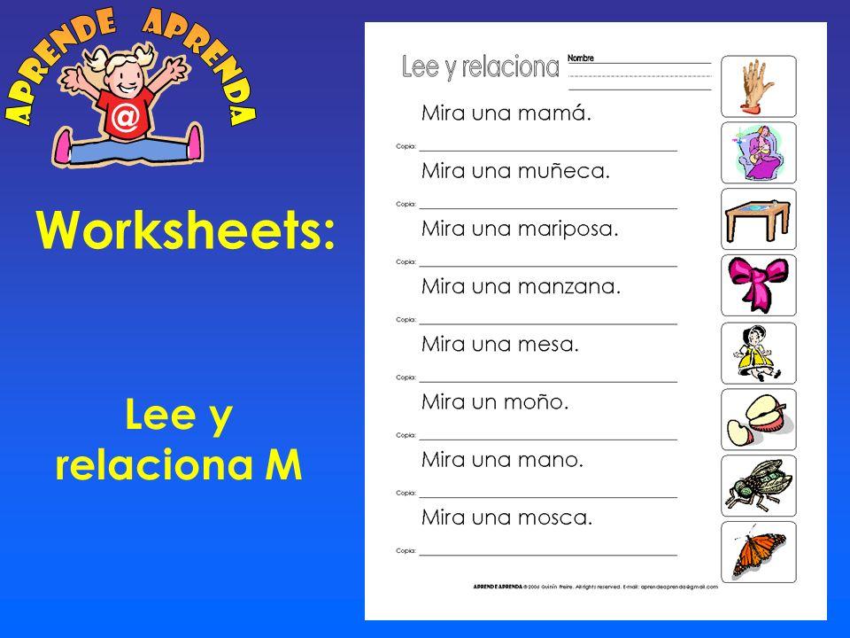 aprende aprenda @ Worksheets: Lee y relaciona M