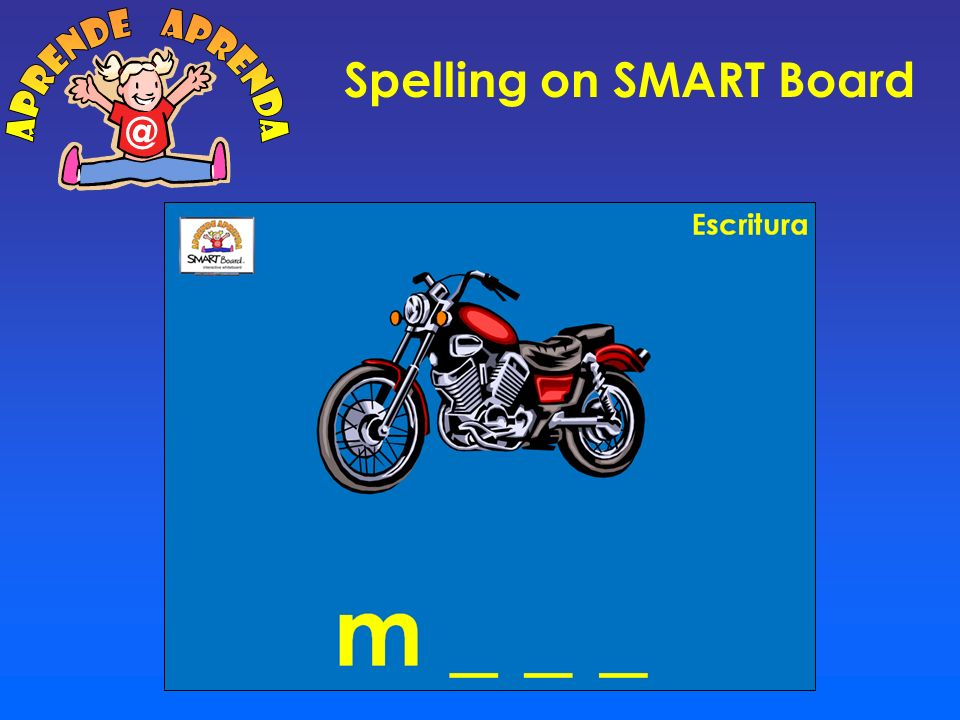 Spelling on SMART Board