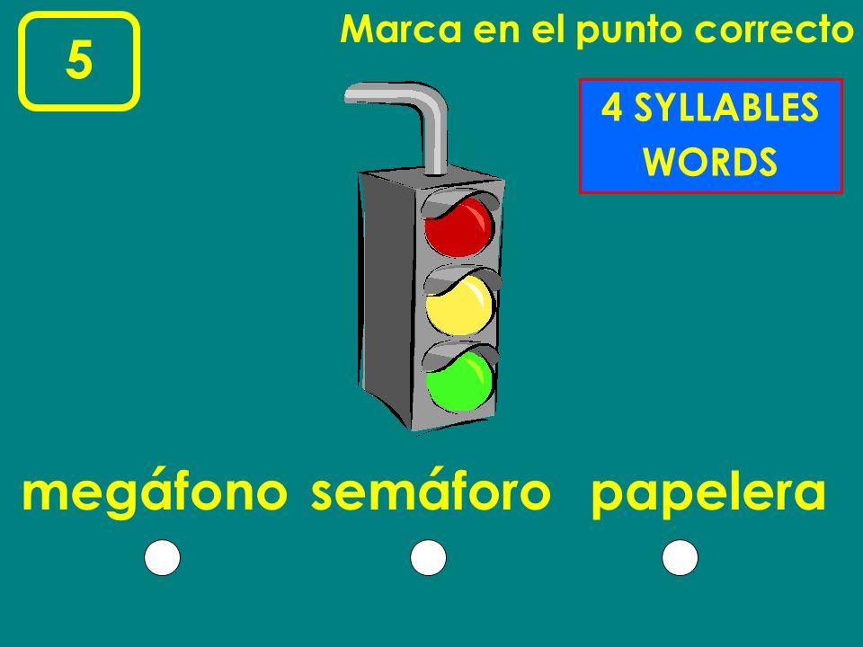 5 megáfono semáforo papelera