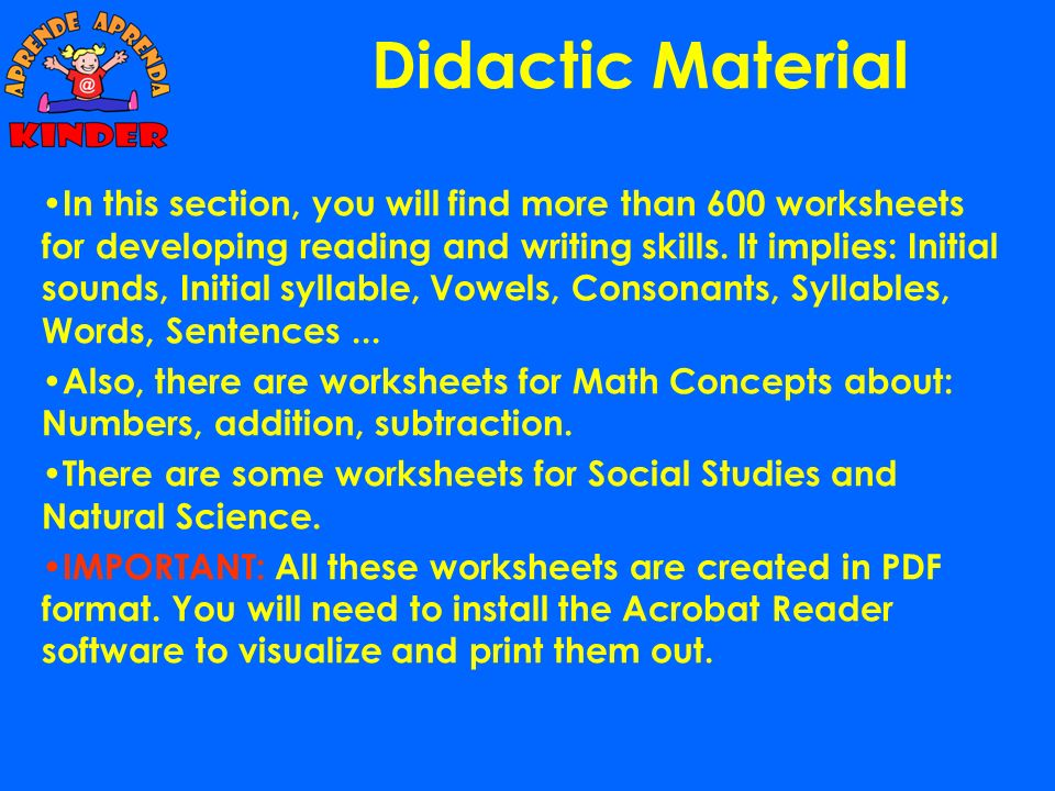 Didactic Material