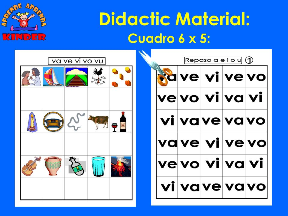 Didactic Material: Cuadro 6 x 5: