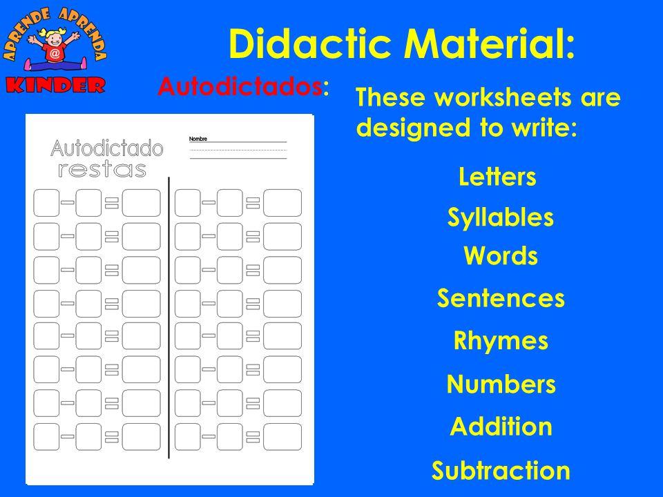Didactic Material: Autodictados: