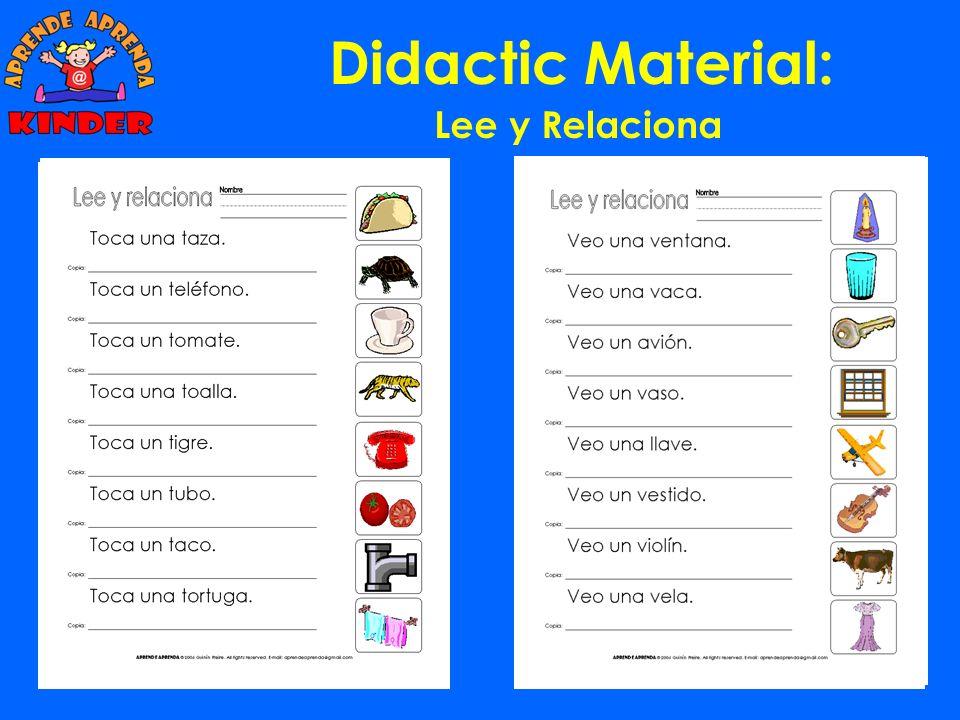 Didactic Material: Lee y Relaciona