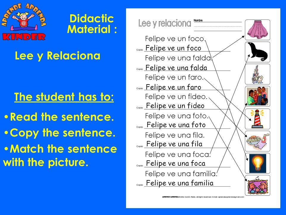 Didactic Material : Lee y Relaciona