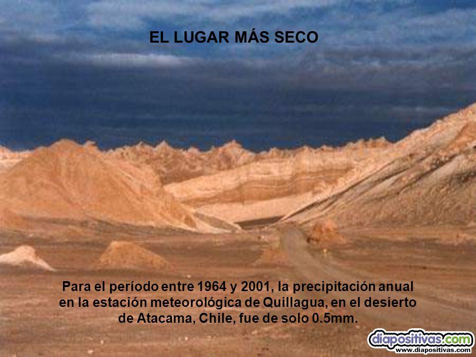 EL LUGAR MÁS SECO