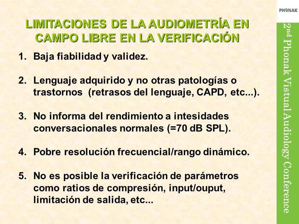 LIMITACIONES DE LA AUDIOMETRÍA EN CAMPO LIBRE EN LA VERIFICACIÓN
