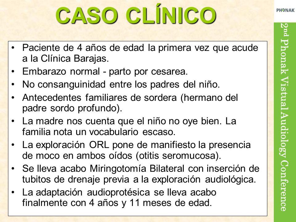 CASO CLÍNICO Paciente de 4 años de edad la primera vez que acude a la Clínica Barajas. Embarazo normal - parto por cesarea.