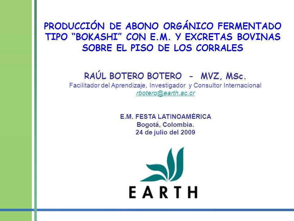 RAÚL BOTERO BOTERO - MVZ, MSc. E.M. FESTA LATINOAMÉRICA