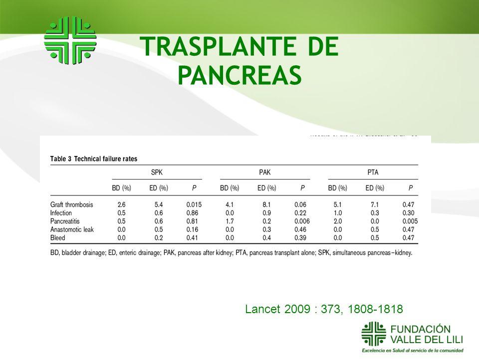 TRASPLANTE DE PANCREAS