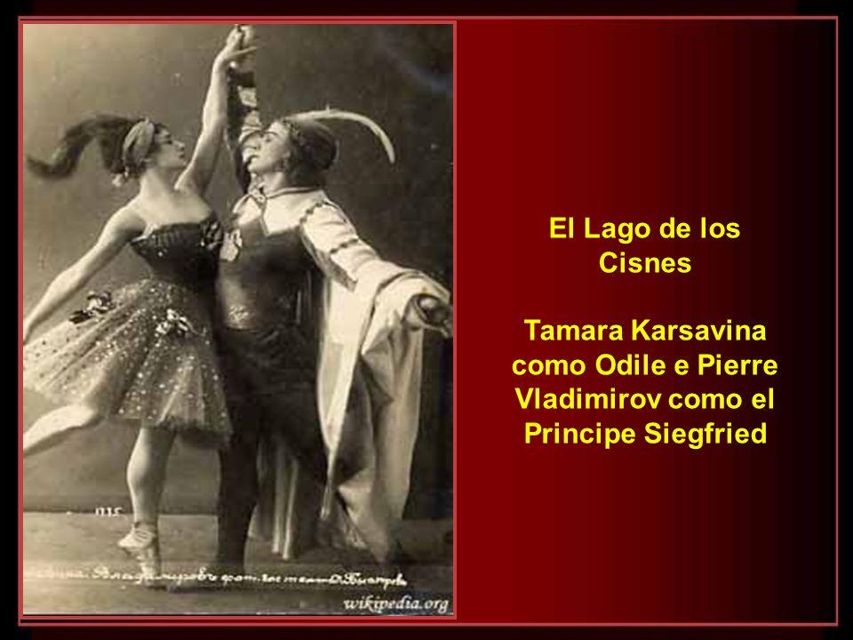 El Lago de los Cisnes Tamara Karsavina como Odile e Pierre Vladimirov como el Principe Siegfried