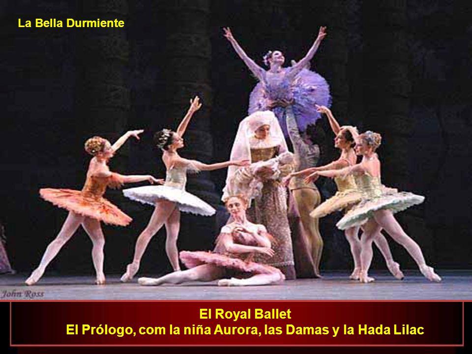 El Prólogo, com la niña Aurora, las Damas y la Hada Lilac