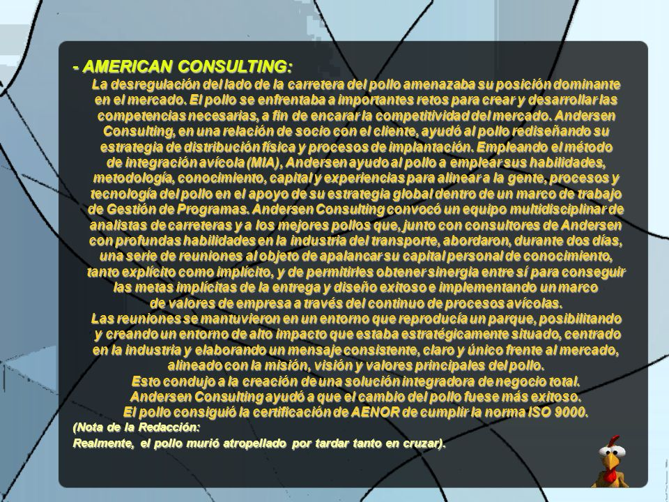 - AMERICAN CONSULTING: