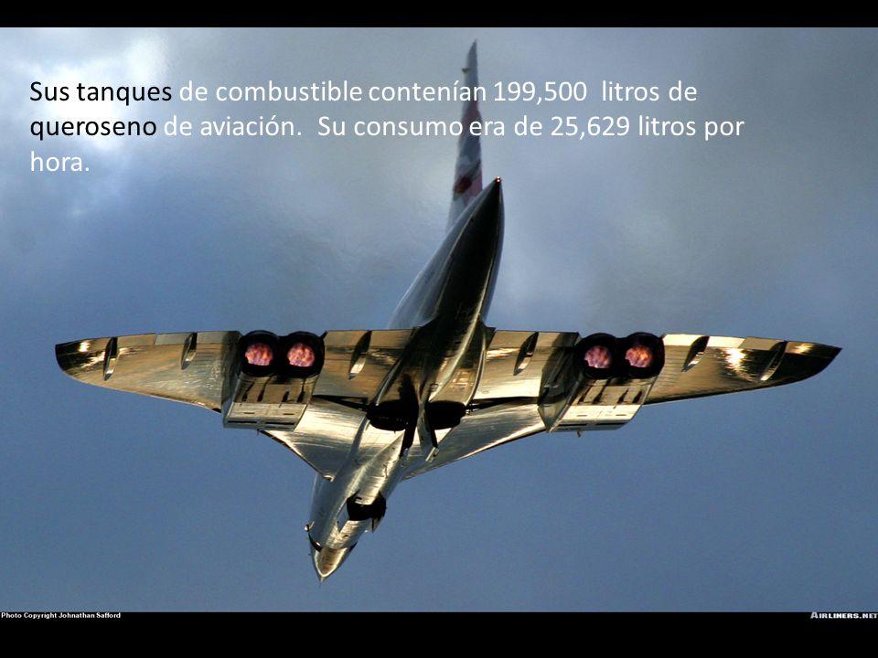 Sus tanques de combustible contenían 199,500 litros de