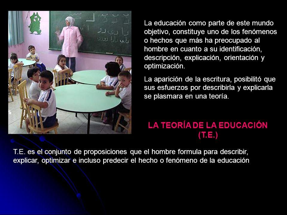 LA TEORÍA DE LA EDUCACIÓN (T.E.)