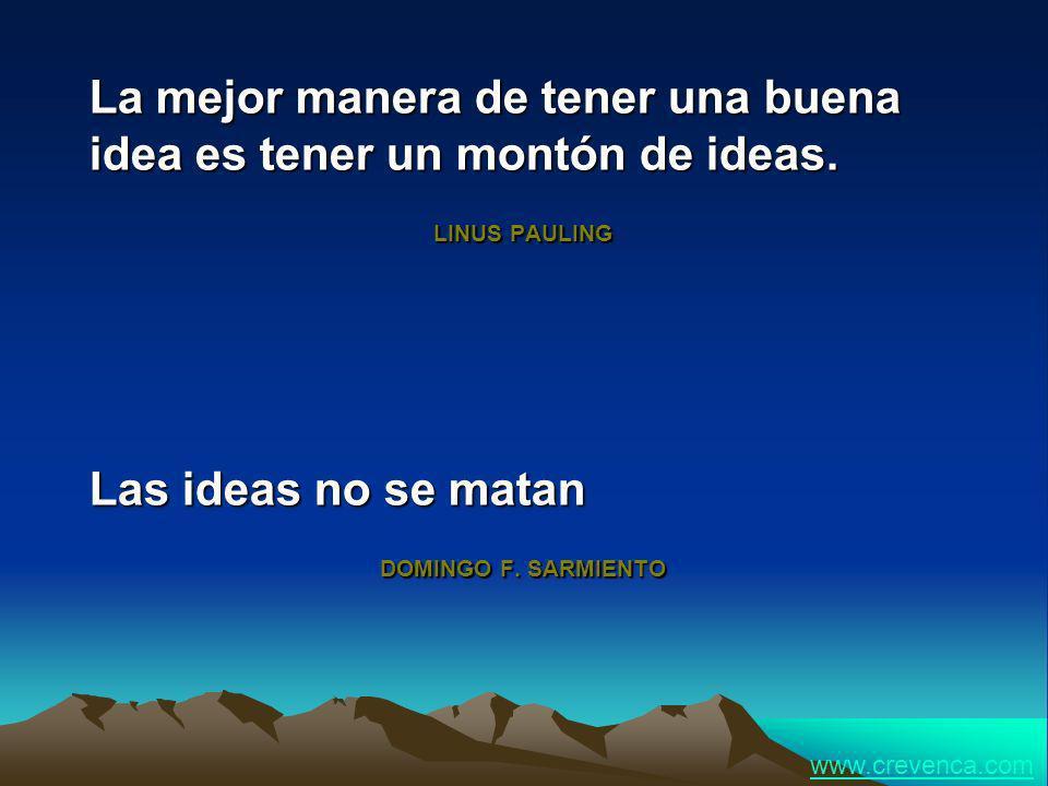 La mejor manera de tener una buena idea es tener un montón de ideas.