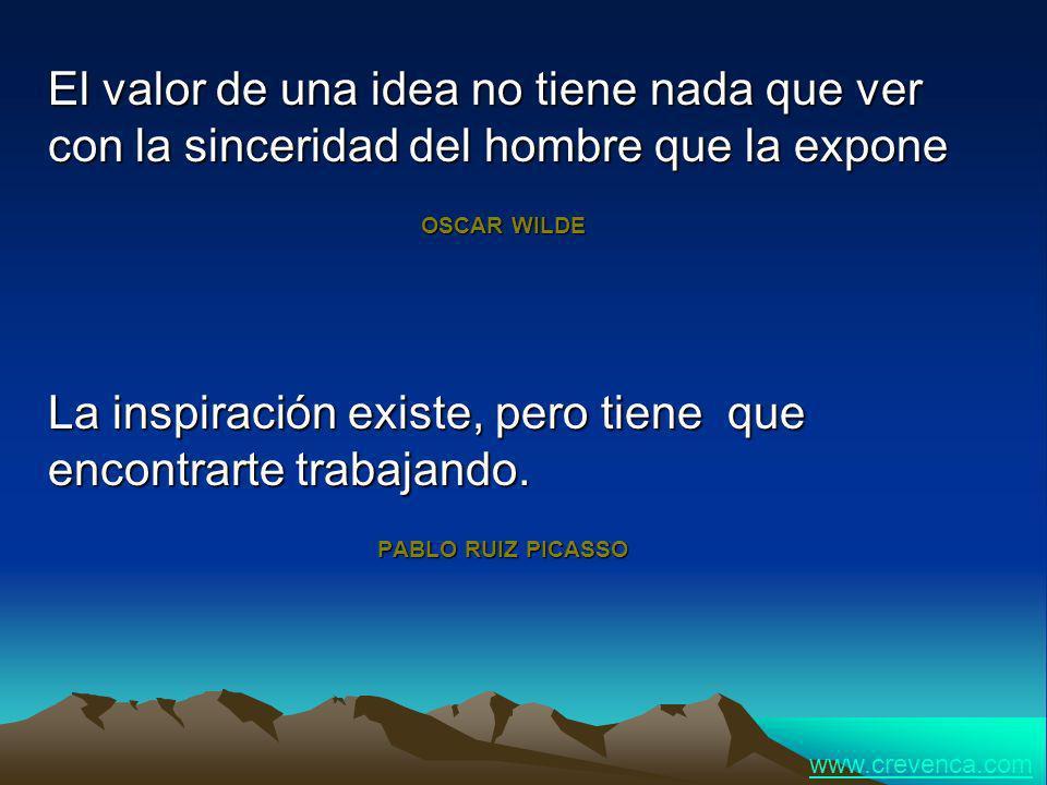 La inspiración existe, pero tiene que encontrarte trabajando.