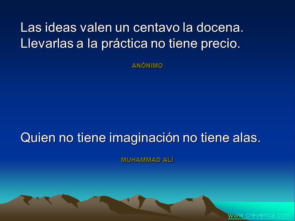 Quien no tiene imaginación no tiene alas.