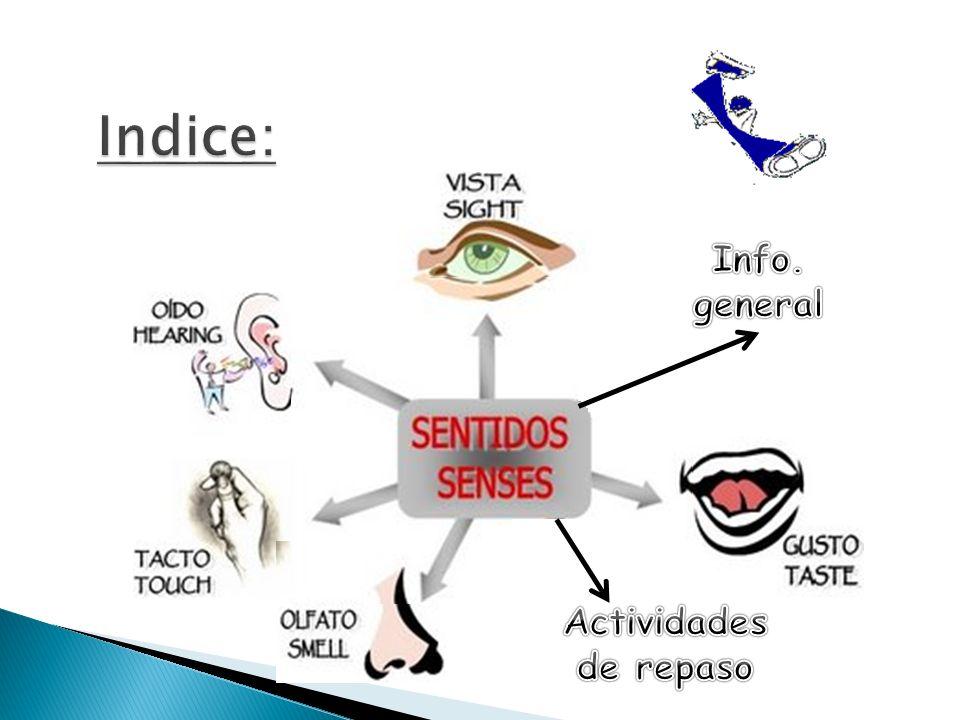 Indice: Info. general Actividades de repaso