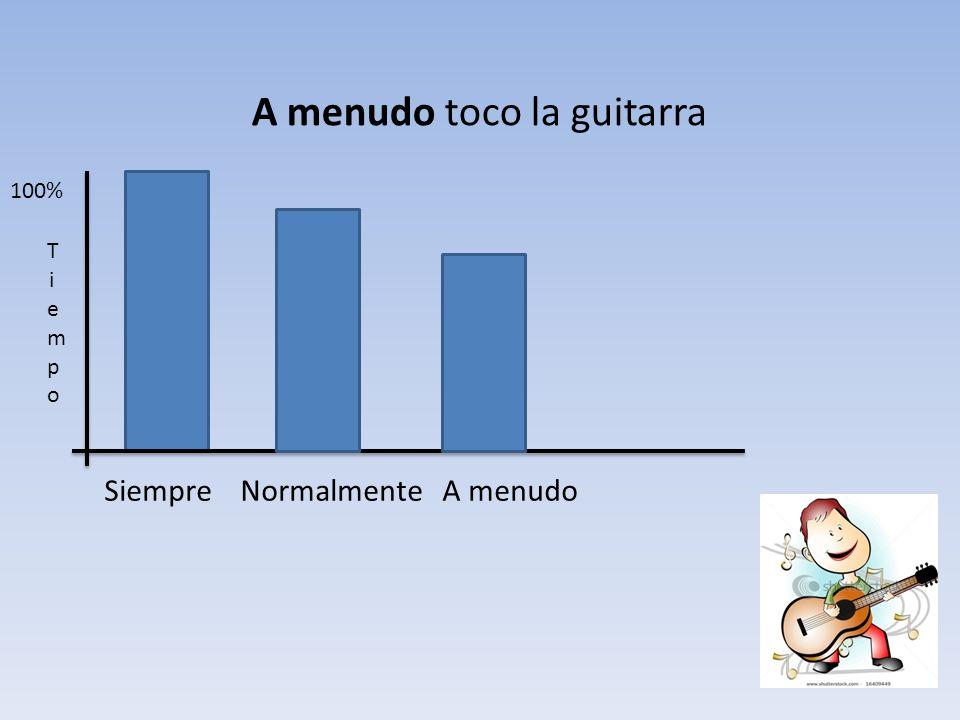 A menudo toco la guitarra
