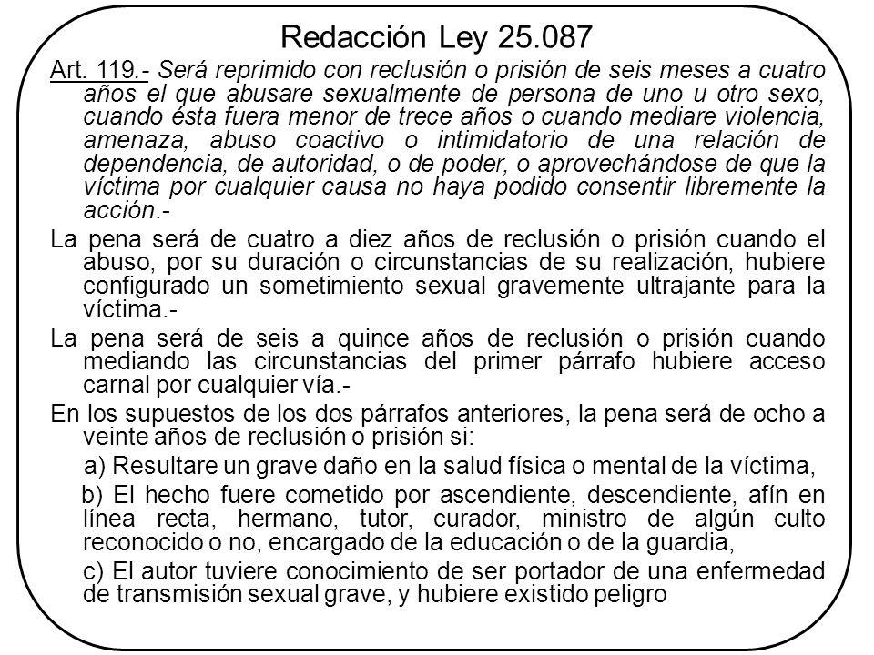 Redacción Ley 25.087