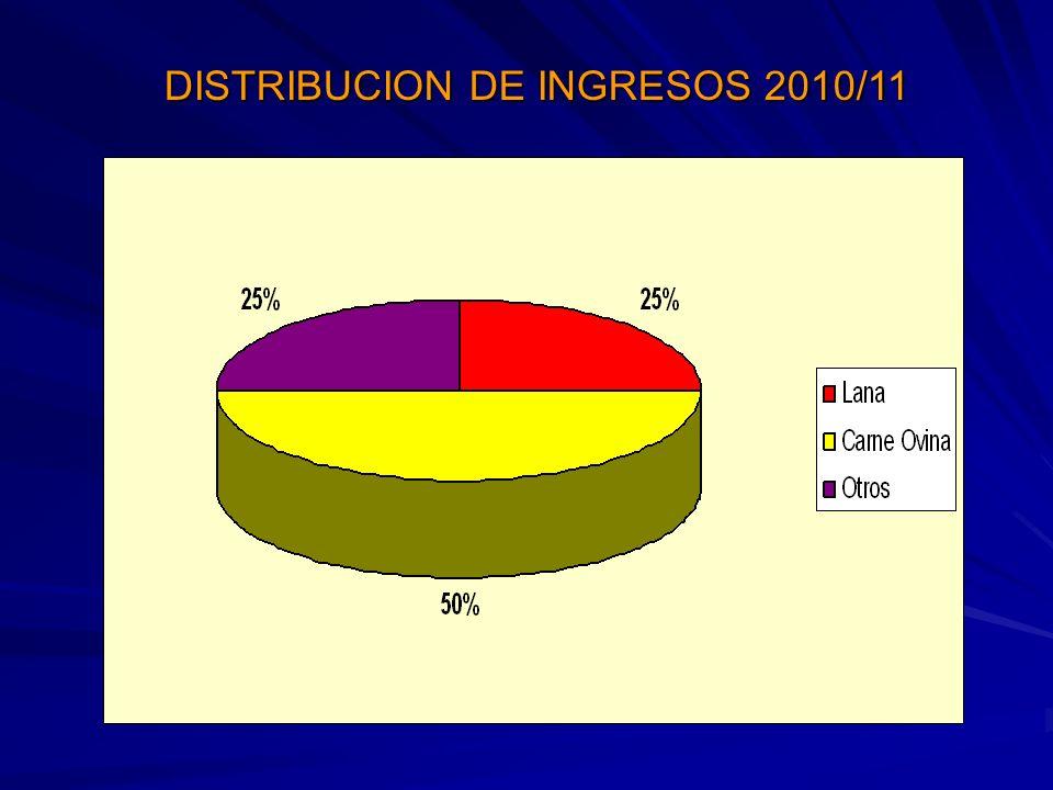 DISTRIBUCION DE INGRESOS 2010/11