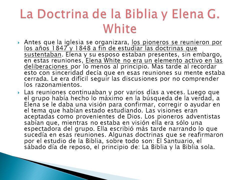 La Doctrina de la Biblia y Elena G. White