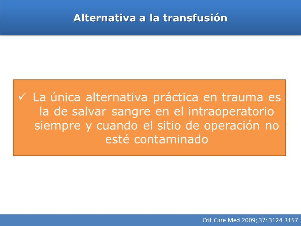 Alternativa a la transfusión