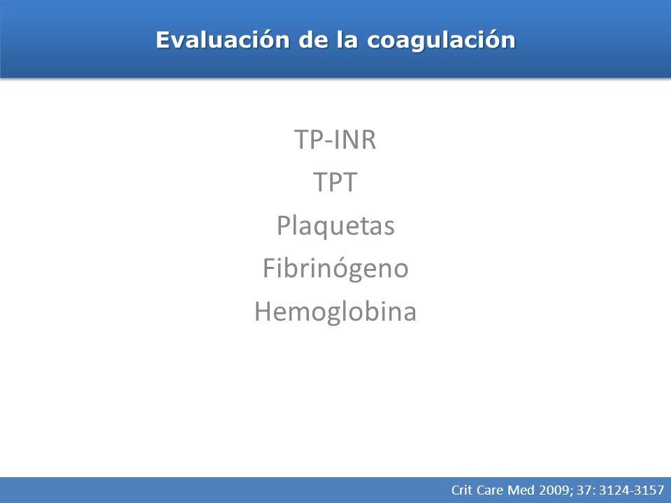 Evaluación de la coagulación