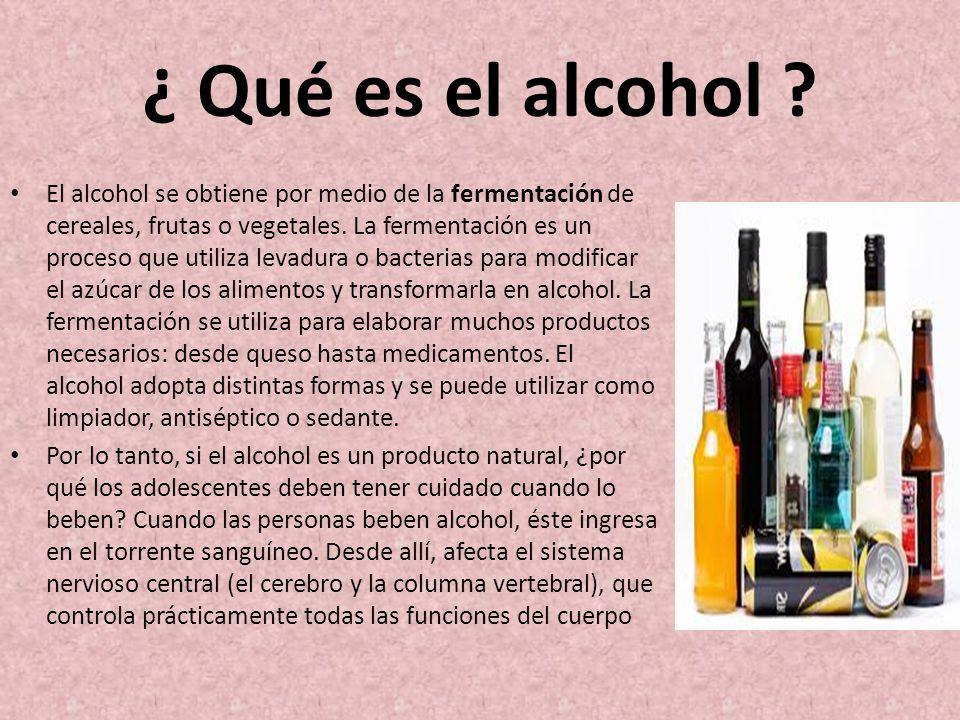 ¿ Qué es el alcohol