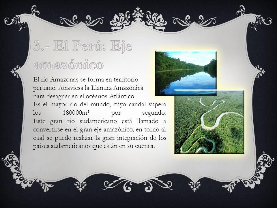 3.- El Perú: Eje amazónico