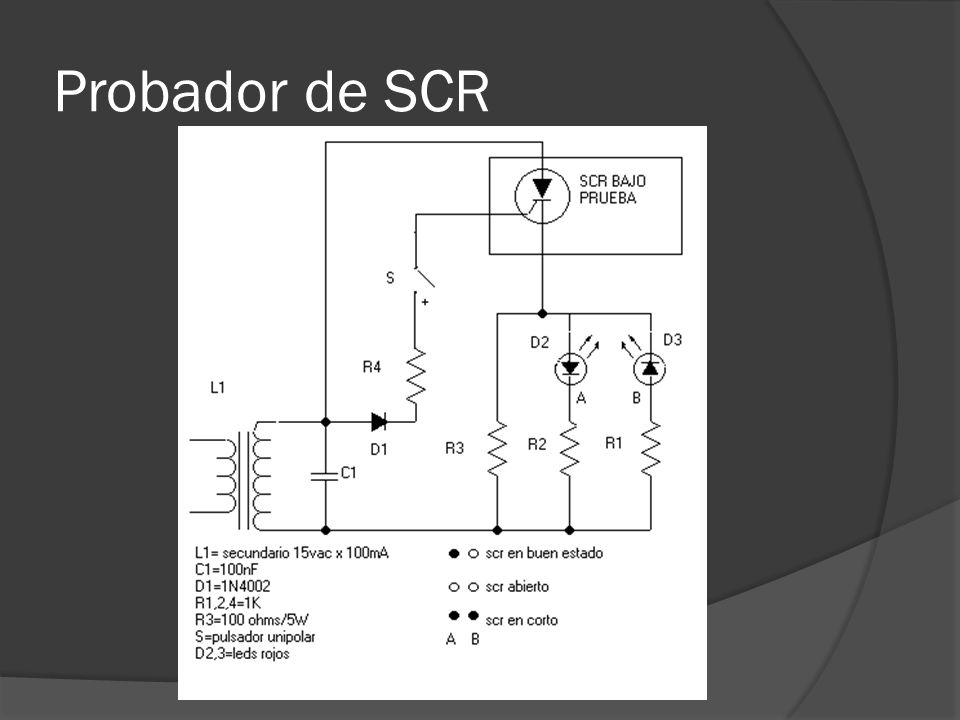 Probador de SCR