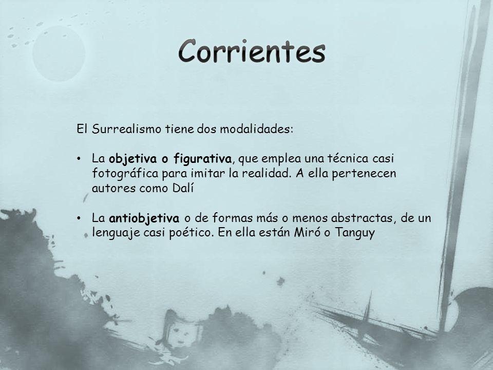 Corrientes El Surrealismo tiene dos modalidades: