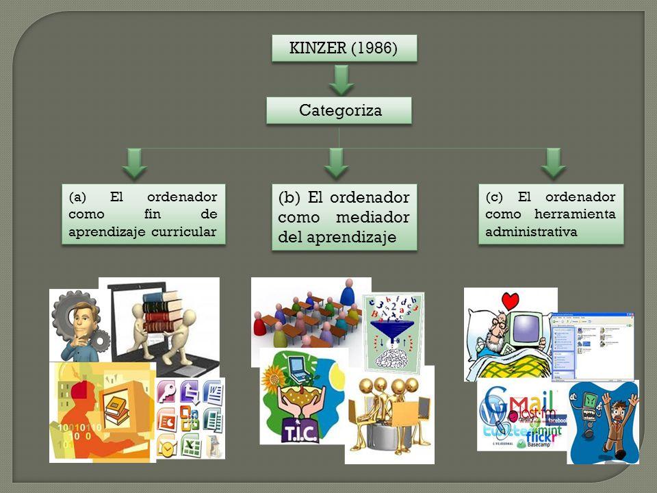 (b) El ordenador como mediador del aprendizaje