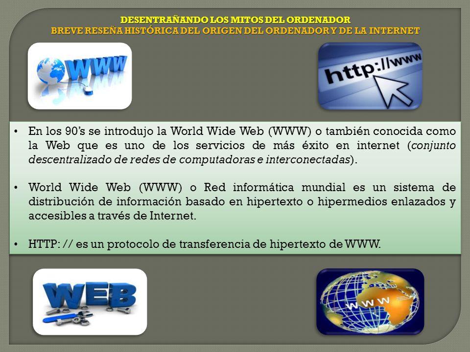 HTTP: // es un protocolo de transferencia de hipertexto de WWW.