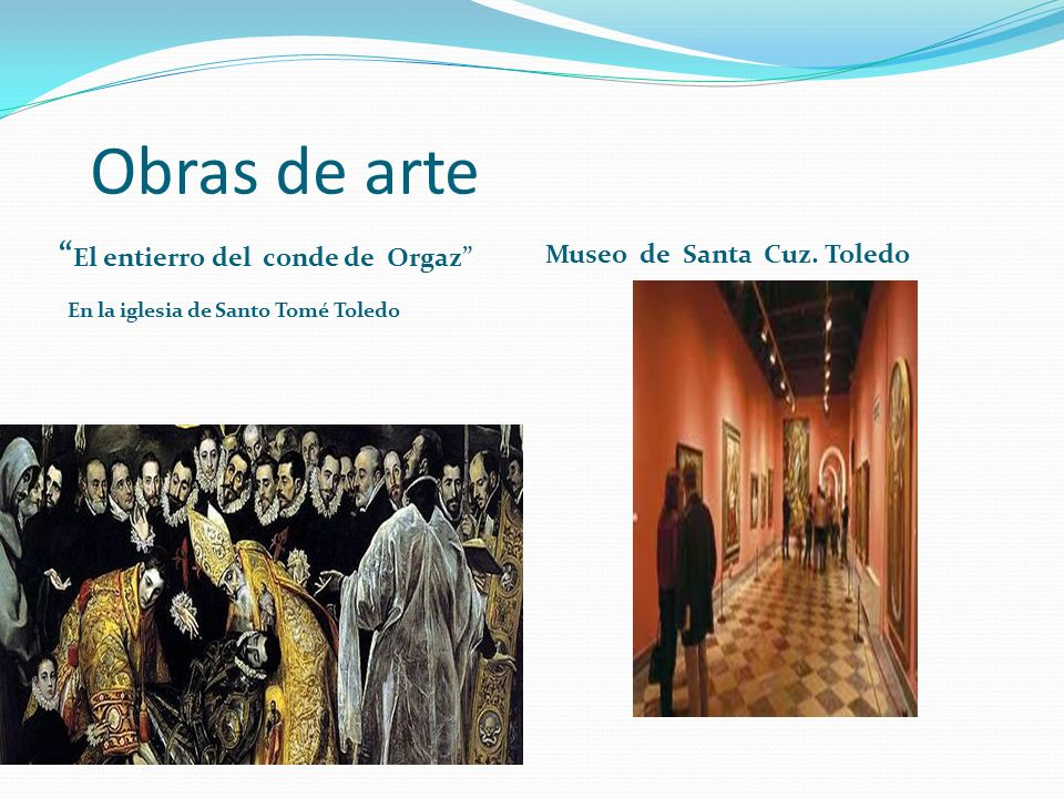Obras de arte El entierro del conde de Orgaz