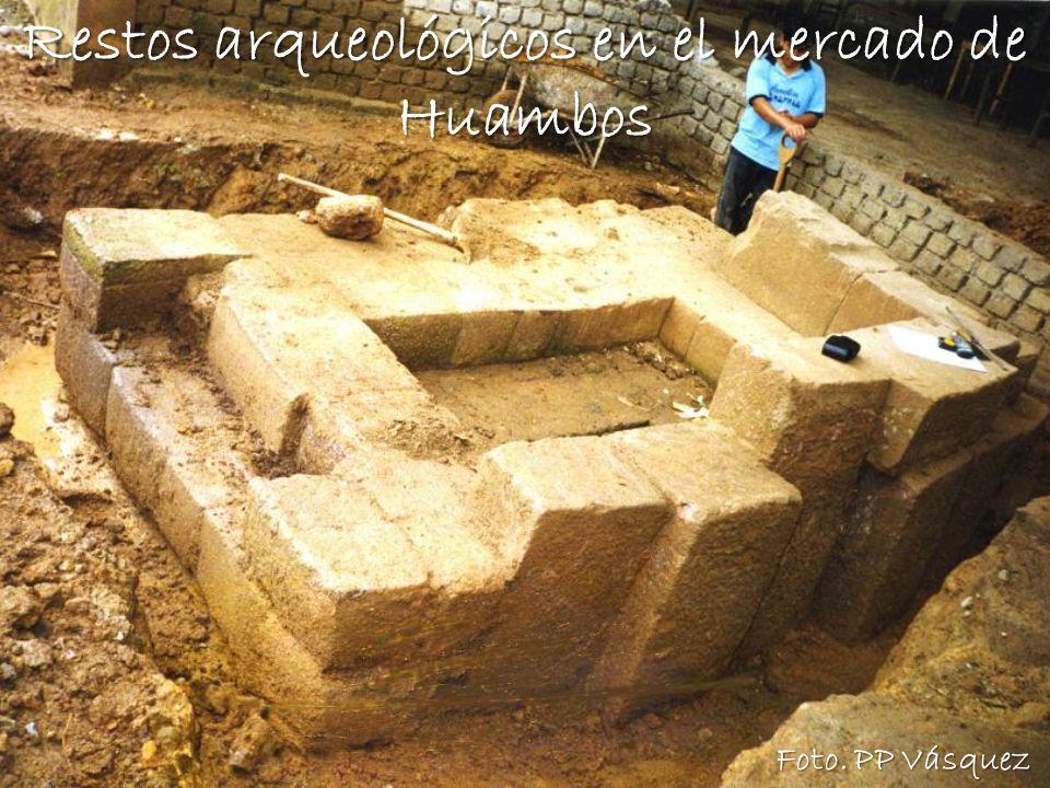 Restos arqueológicos en el mercado de Huambos
