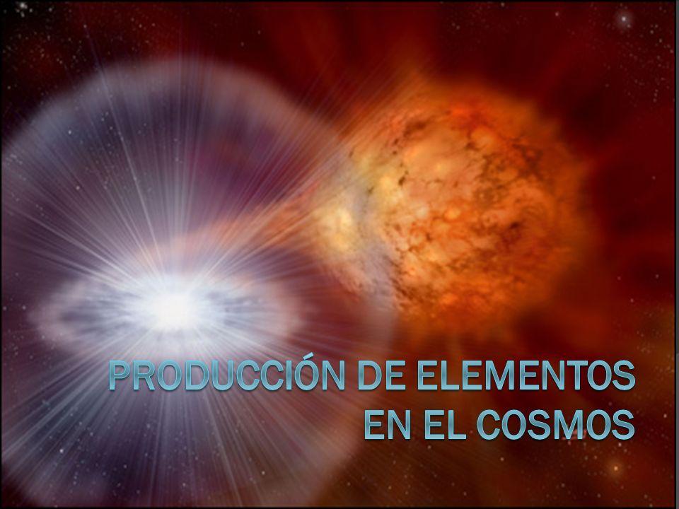 Producción de Elementos en el Cosmos