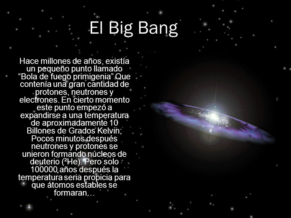 El Big Bang