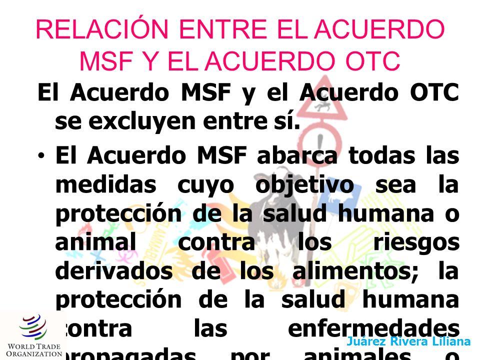 RELACIÓN ENTRE EL ACUERDO MSF Y EL ACUERDO OTC