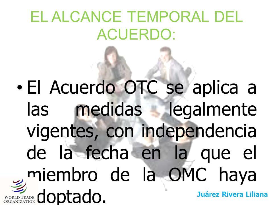 EL ALCANCE TEMPORAL DEL ACUERDO: